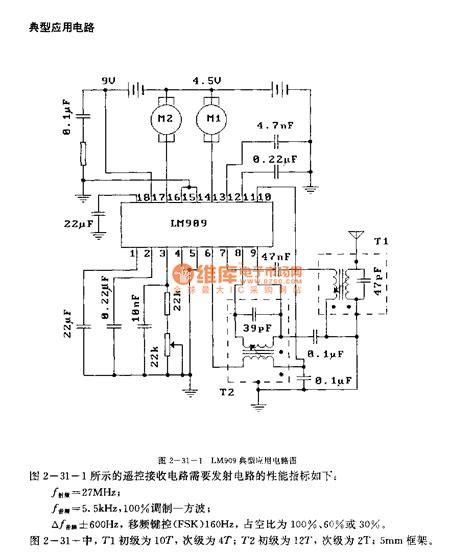 radio remote circuit diagram lm909 electronic toys radio remote receivier