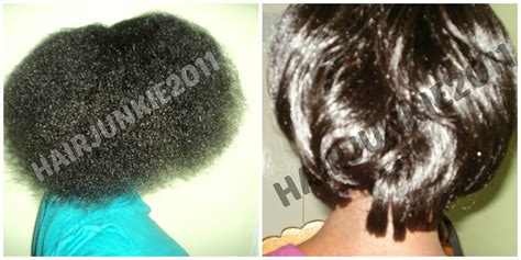 relaxed hair before and after natural hair hairjunkie2011