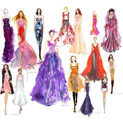 fashion sketches polyvore