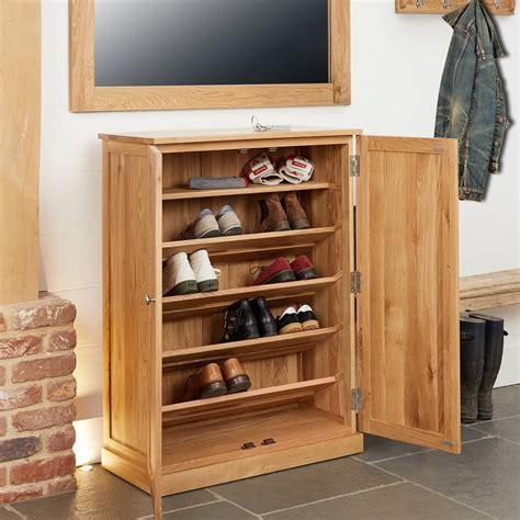 Mobel Oak Large Shoe Cabinet Was £470.00 Now £359.10