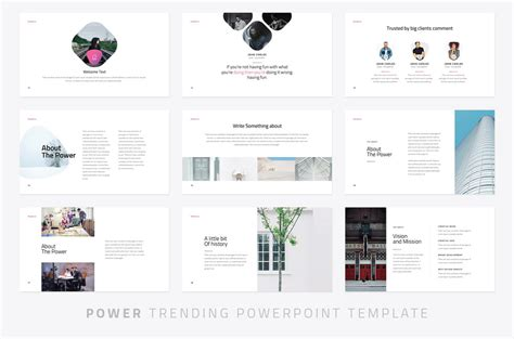Power Modern Powerpoint Template Powerpoint Templates Just Free Slides Modern Ppt Template