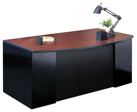 Executive Desk Accessories Csii 2 Pedestal Bow Front Executive Desk Modern Home Office Accessories
