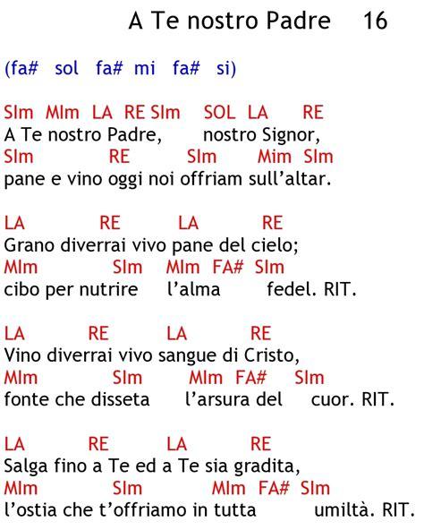 testi canzoni chiesa canti liturgici
