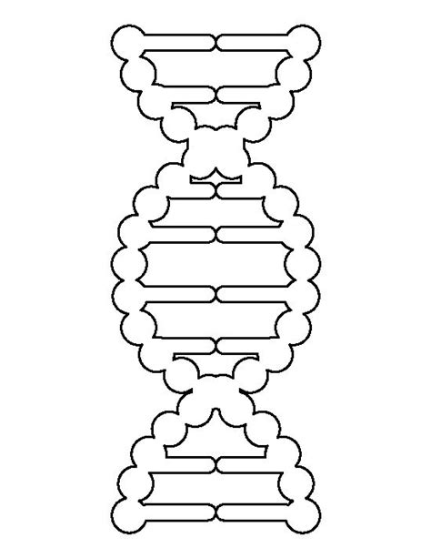 dna templates dna pattern use the printable outline for crafts