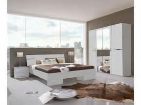 chambre compl 232 te coloris blanc et chrome vente de