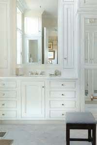 All White Vanity White Vanity With White Marble Top Traditional