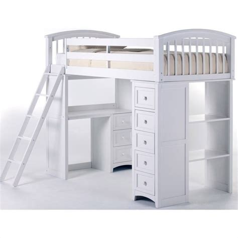 Student Bunk Bed Ne School House Student Loft Bed In White 7080nl