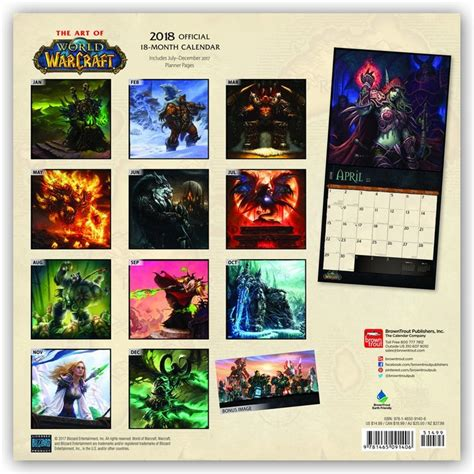 1416287205 world of warcraft calendar world of warcraft calendars 2019 on ukposters europosters