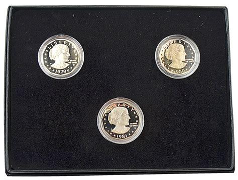susan b anthony dollars 1979 1981 1999 mintage coin susan b anthony dollar collection 1979 1981 san