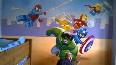 lego avengers mural youtube