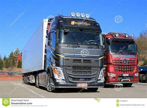 new volvo truck 2015 new volvo fh 500 semi and mercedes benz arocs logging