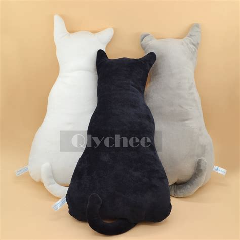 stuffed cat pillow silhouette cat shape shadow cushion sofa stuffed plush