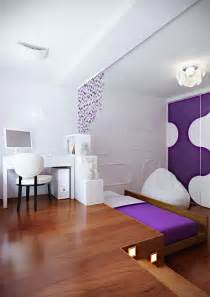 Hideaway Bed Living Room Purple White Modern Bedroom Hideaway Bed Interior Design