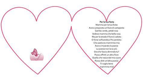 lettere per mamma poesia scritta in un cuore per la tua festa mamma e bambini