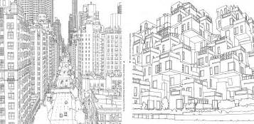 Tel Aviv Future Skyline an extremely detailed coloring book for architecture
