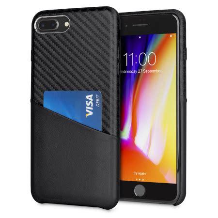 olixar iphone 8 plus 7 plus carbon fibre card pouch black