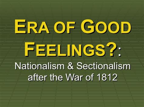 sectionalism and nationalism nationalism vs sectionalism ppt