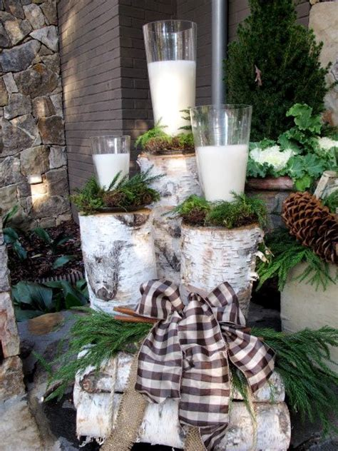 Birch Log Decor by The Birch Logs For Outside Decor
