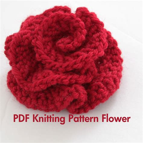 flower design knitting pattern pattern knitted flower pdf pattern very easy by absoluteknits