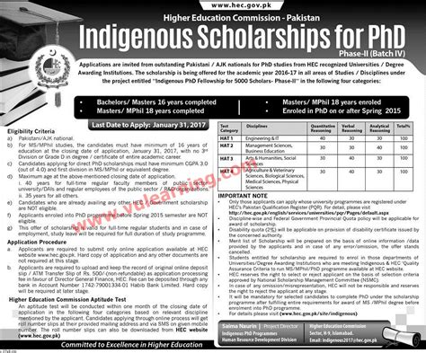 Hec Application Deadline Mba Time And Date by Hec Indigenous Scholarships For Phd Phase Ii Batch Iv