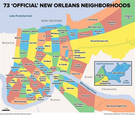 The 73 Official New Orleans Neighborhoods Why They