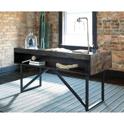 rustic modern desk modern rustic industrial home office desk with steel base