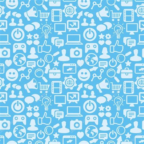 icon pattern svg vector seamless pattern with social media icons stock