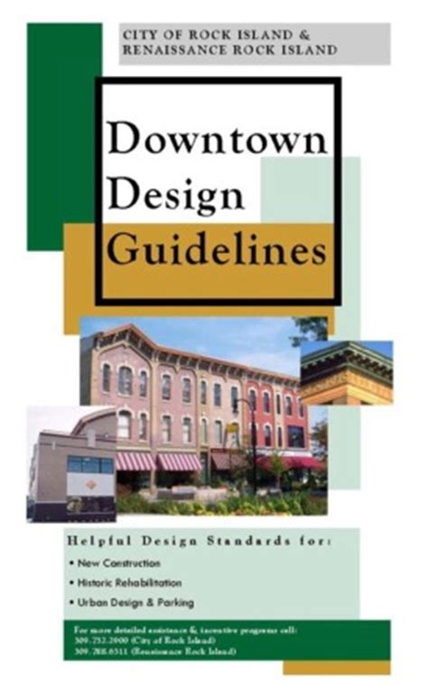 downtown design guidelines knoxville rock island il official website downtown design