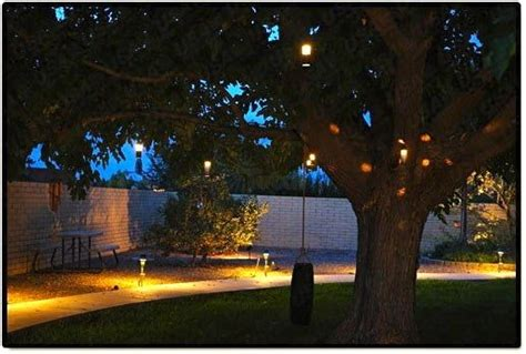 hanging outdoor lights in trees landscape lighting outdoor low voltage flower hanging tree