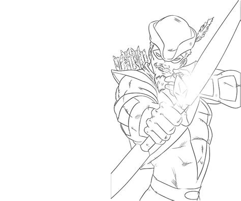 Green Arrow Attack Lowland Seed Green Arrow Coloring Pages