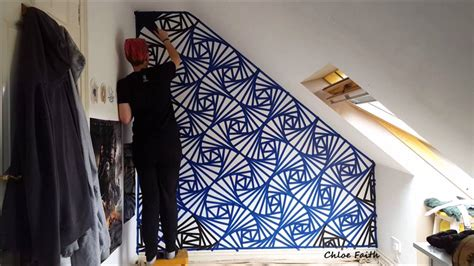 design by humans twitch mural geometric wall art paint chloe faith youtube