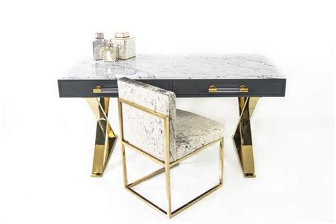 Desk With Marble Top by Lucite And Brass Desk With Marble Top Modshop Modshop