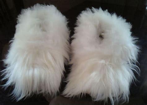 alpaca fur slippers the best baby alpaca fur white slippers peru all by