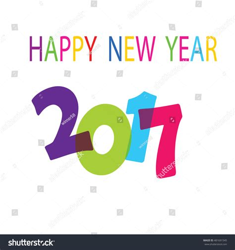 happy new year text vector happy new year 2017 text design stock vector illustration