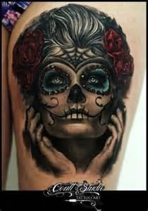 Green eyes sugar skull tattoos egodesigns