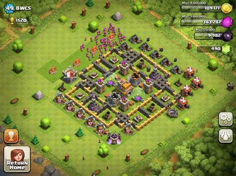 layout level 7 town hall clash of clans town hall level 7 layout 2013 www imgkid