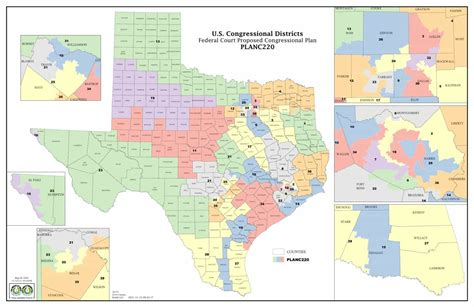 map of texas congressional districts targeting voters by ip address