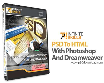 website tutorial photoshop and dreamweaver infinite skills psd to html with photoshop and dreamweaver