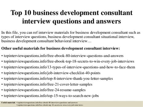 Top 10 International Mba Programs For Management Consulting by Top 10 Business Development Consultant Questions