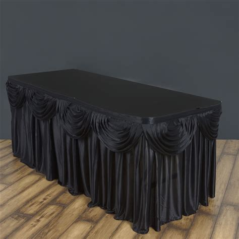 drape table 14 feet x 29 quot satin classic drape table skirt wedding