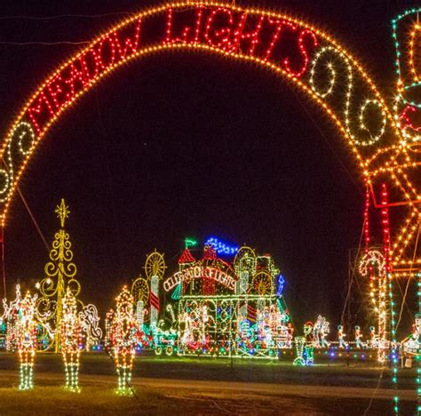 benson christmas light display nc meadow lights