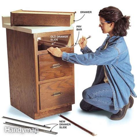 How To Replace Drawer Slides by Fixing Drawers How To Make Creaky Drawers Glide The