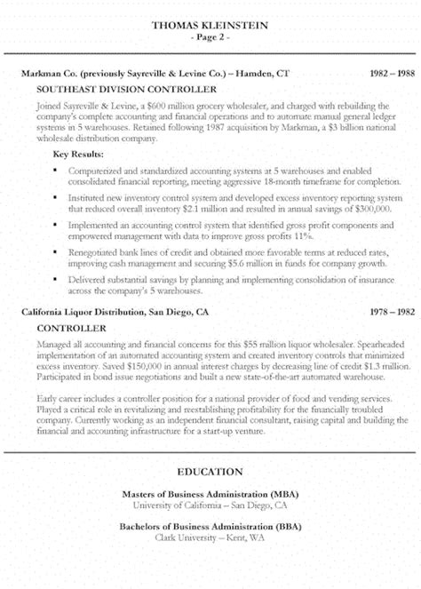 Bank Cfo Resume Sle by Sales Banking Resume