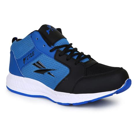 up and running shoes buy fitze mens black and blue lace up running shoes