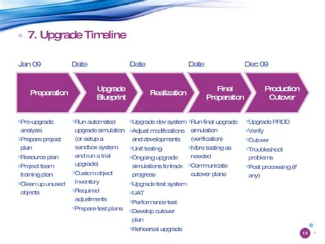 Sap Upgrade Project Brief Software Upgrade Strategy Template