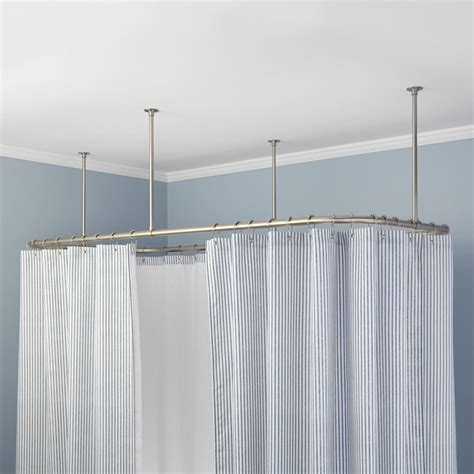 Hanging Shower Curtain by Hanging Shower Curtains From Ceiling Shower Curtain