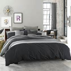 kenneth cole reaction home fusion duvet cover in indigo
