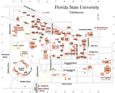 fsu map x facility contact information