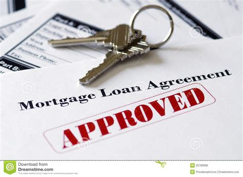 loan on house with no mortgage real estate mortgage approved loan document royalty free stock images image 25796999