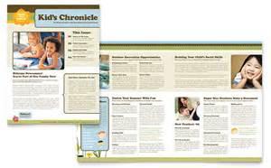 child development newsletter template design